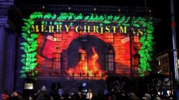 Dublin GPO Christmas Projection