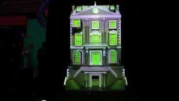 Green Hippo Projection at Plasa 2011